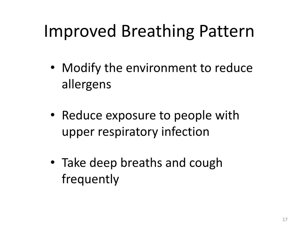 Improved Breathing Pattern