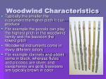 woodwind characteristics
