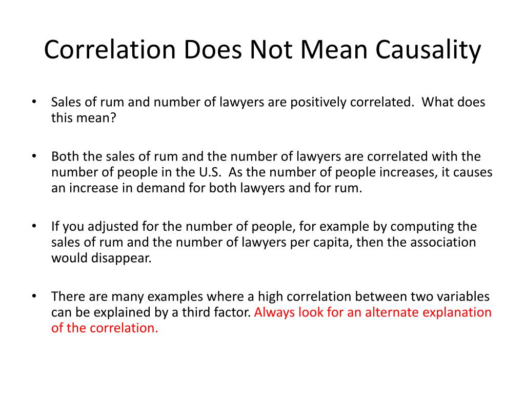 Correlation Does Not Mean Causality
