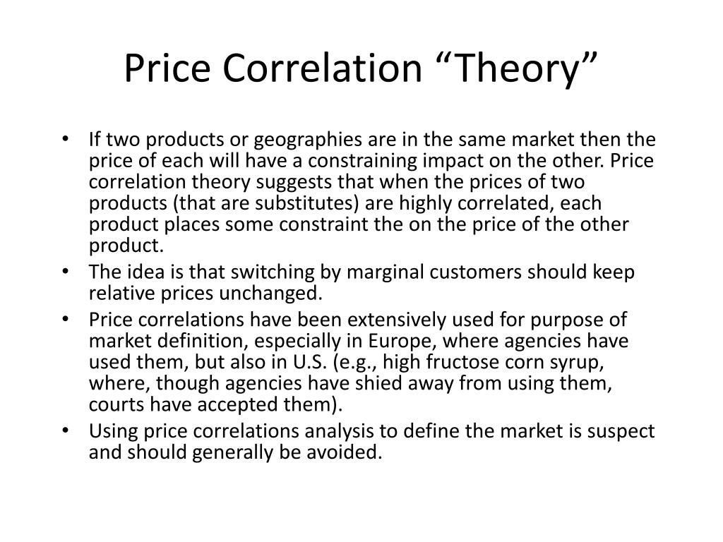 "Price Correlation ""Theory"""