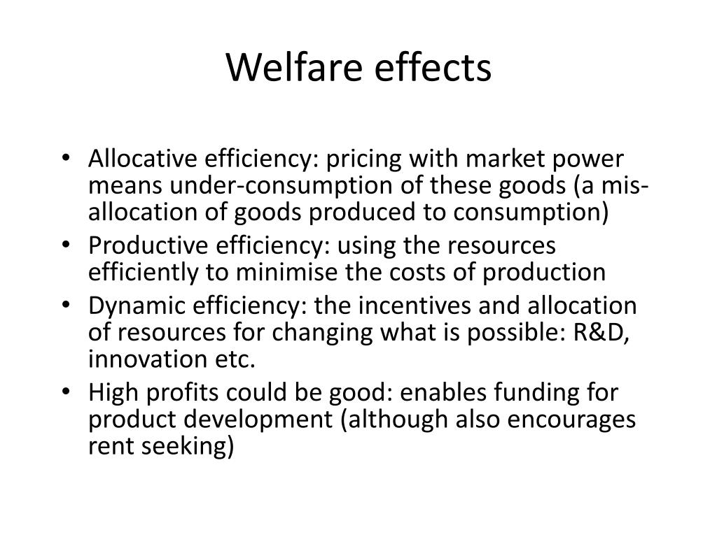Welfare effects