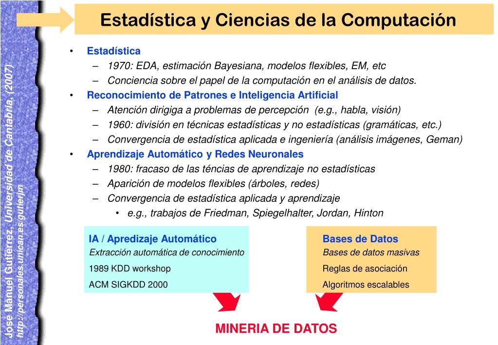 Estadística y Ciencias de la Computación