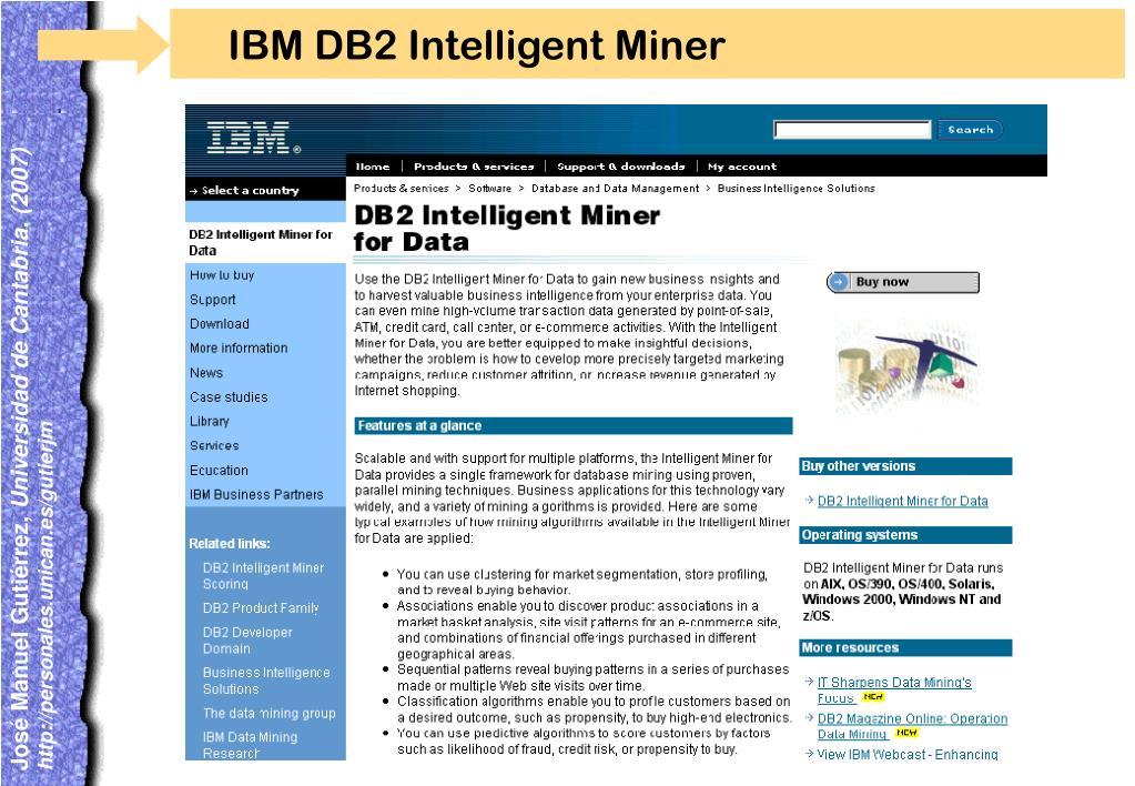 IBM DB2 Intelligent Miner