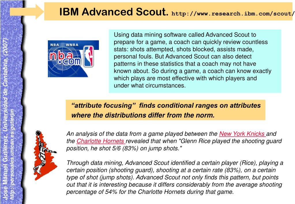 IBM Advanced Scout.