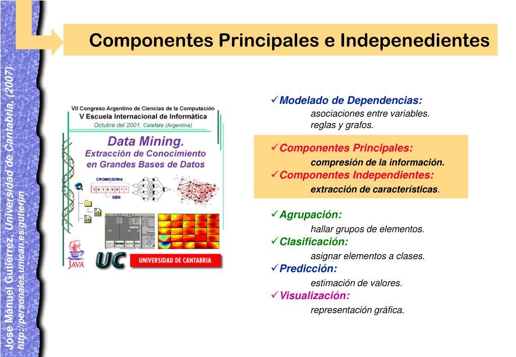 Componentes Principales e Indepenedientes