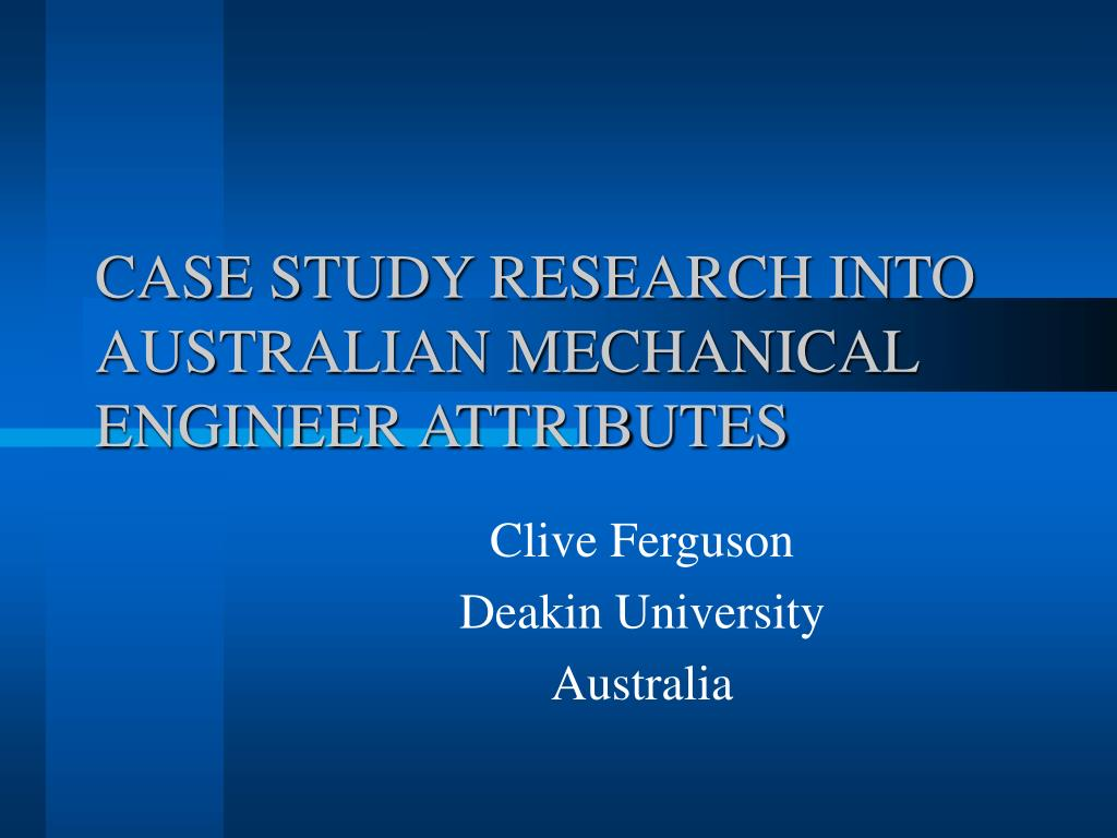 case study research into australian mechanical engineer attributes l.