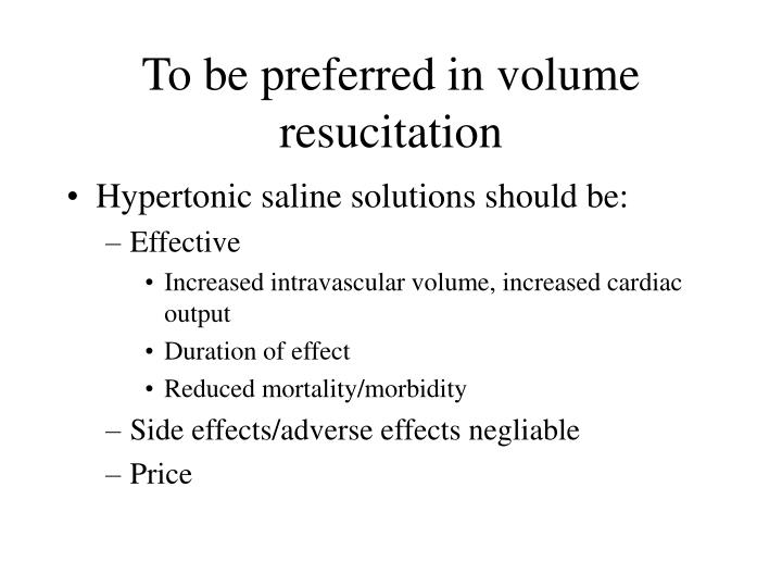 PPT - Treatment with hypertonic saline solutions