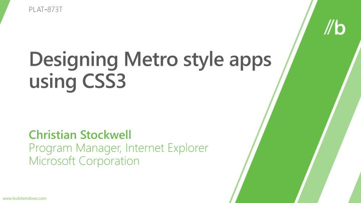 Designing metro style apps using css3