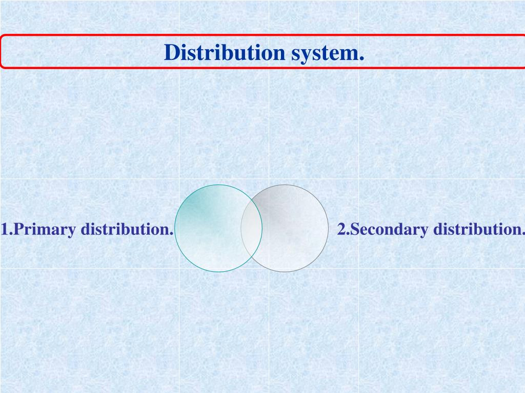 Distribution system.
