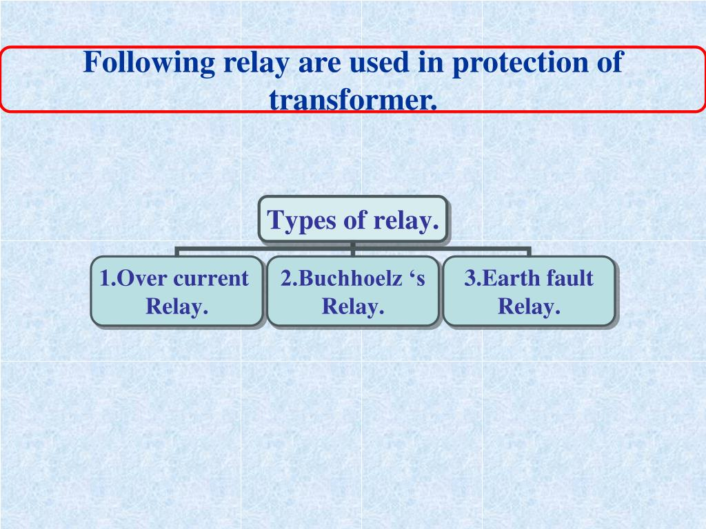 Following relay are used in protection of
