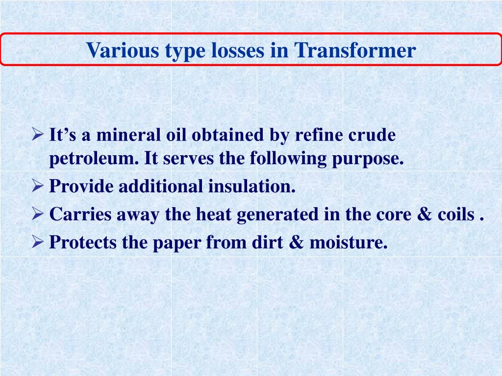 Various type losses in Transformer