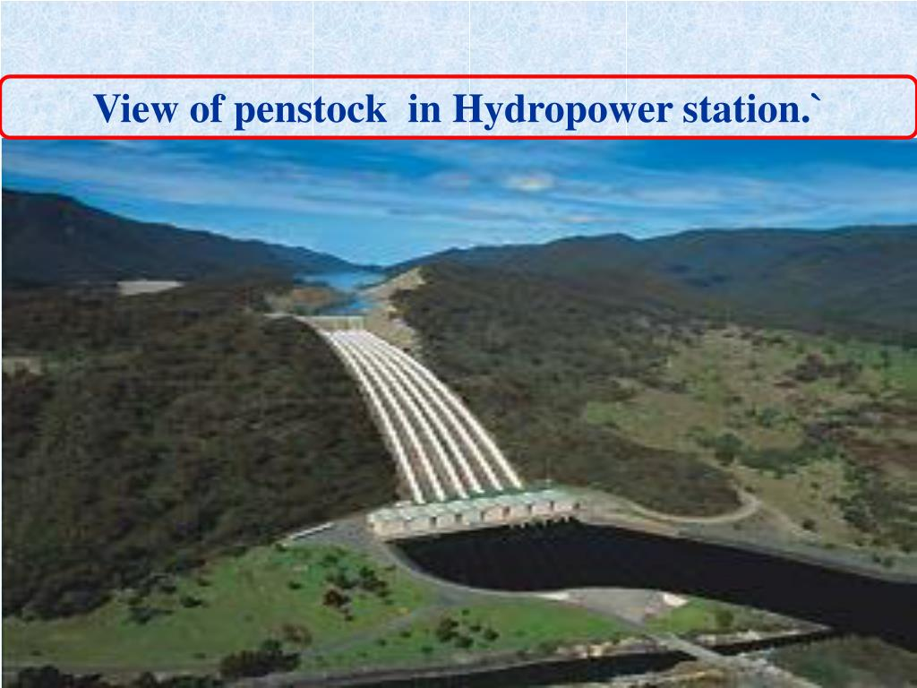 View of penstock  in Hydropower station.`
