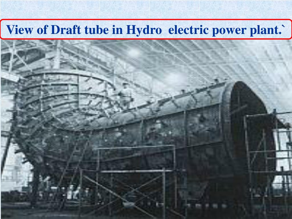 View of Draft tube in Hydro  electric power plant.`