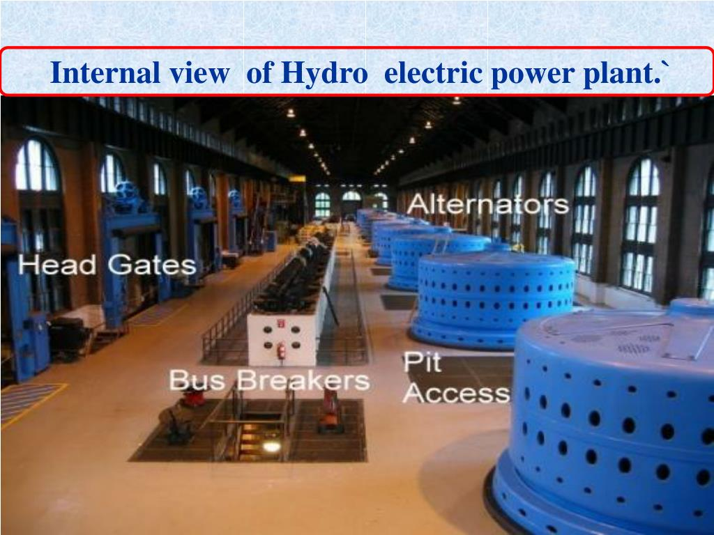Internal view  of Hydro  electric power plant.`