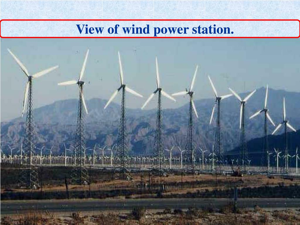 View of wind power station.