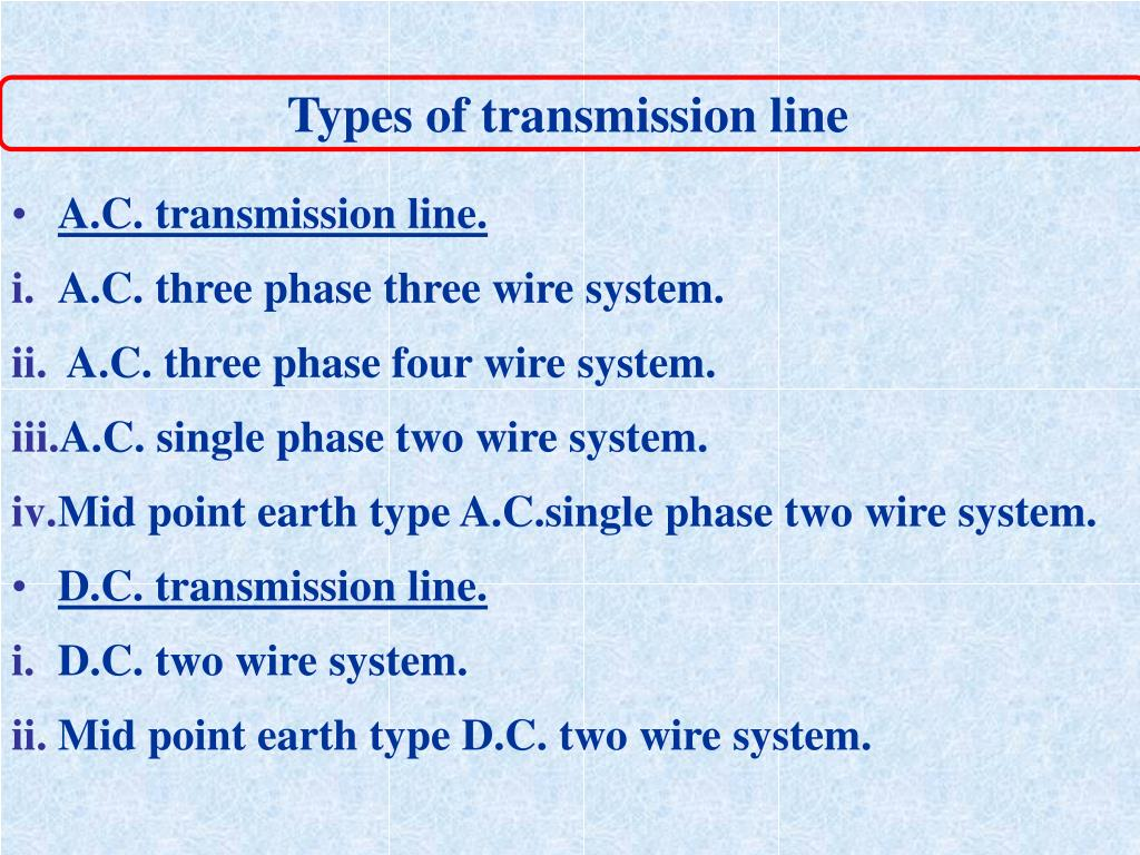 Types of transmission line