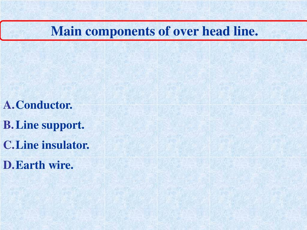 Main components of over head line.