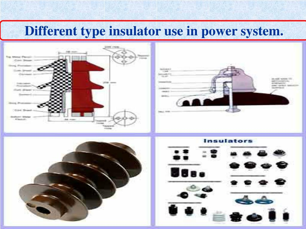 Different type insulator use in power system.