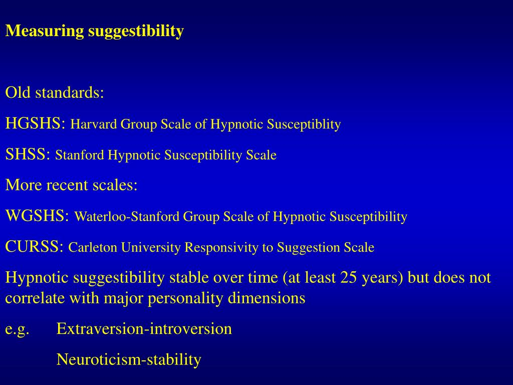 Measuring suggestibility