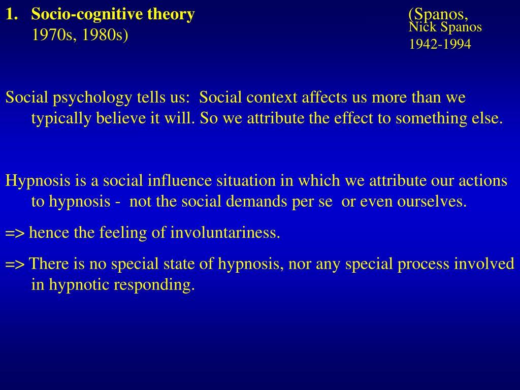 Socio-cognitive theory
