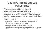 cognitive abilities and job performance