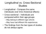 longitudinal vs cross sectional studies1