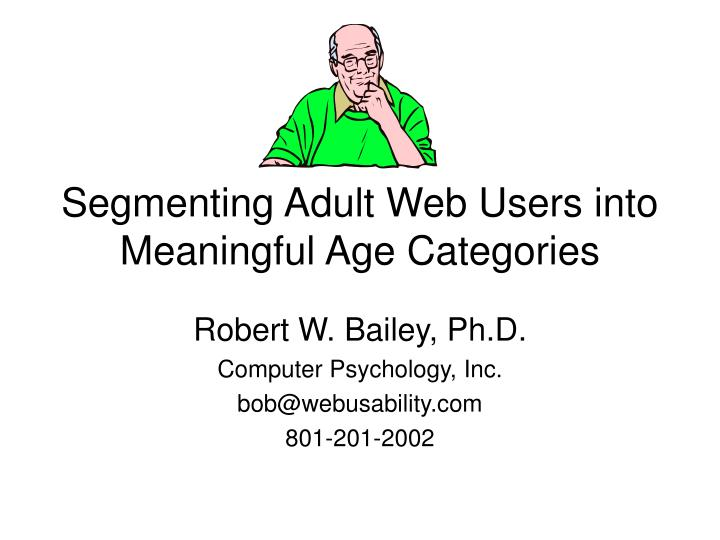 segmenting adult web users into meaningful age categories n.