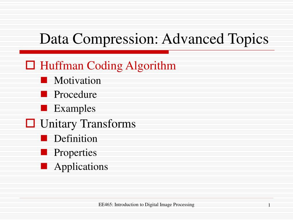 PPT - Data Compression: Advanced Topics PowerPoint
