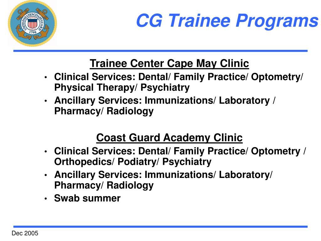 CG Trainee Programs