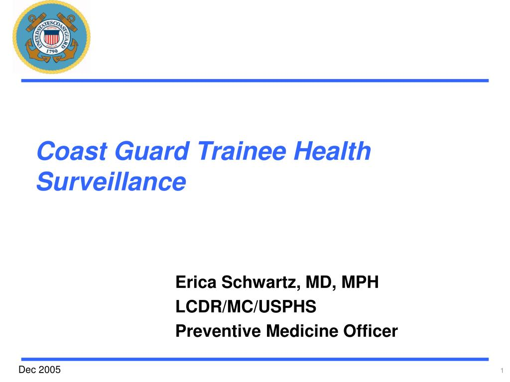 coast guard trainee health surveillance l.