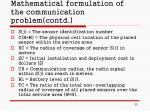 mathematical formulation of the communication problem contd20