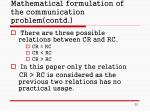 mathematical formulation of the communication problem contd22