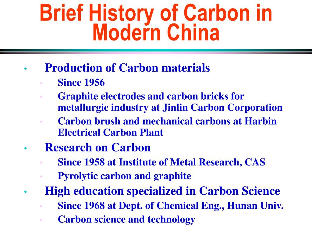 brief history of carbon in modern china l.