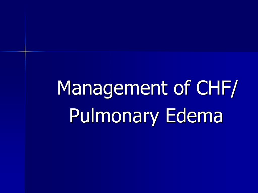 Management of CHF/