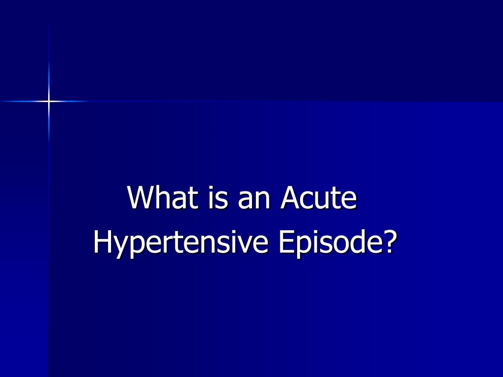 What is an Acute