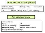ask about symptoms