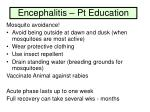 encephalitis pt education