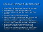 effects of t herapeutic hypothermia