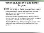 plumbing education to employment program9