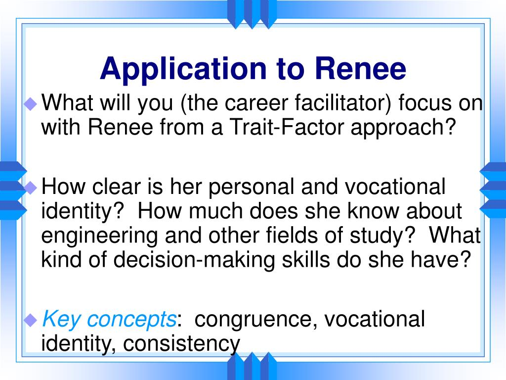 Application to Renee