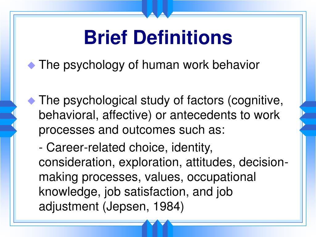 Brief Definitions