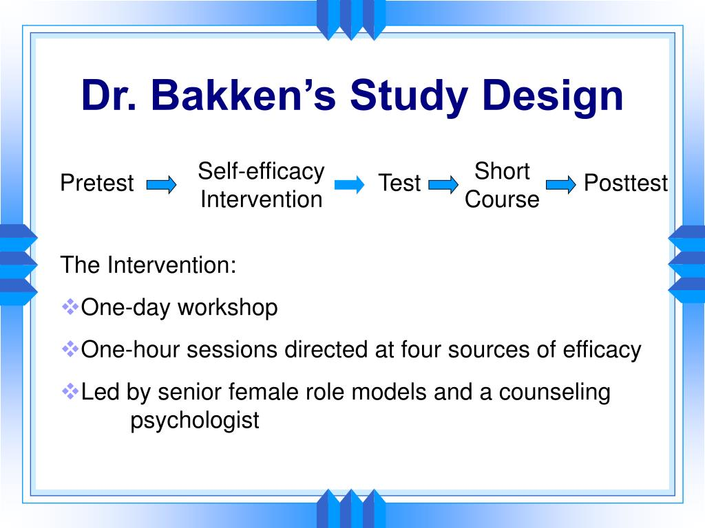 Self-efficacy Intervention