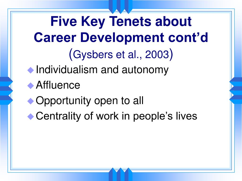 Five Key Tenets about
