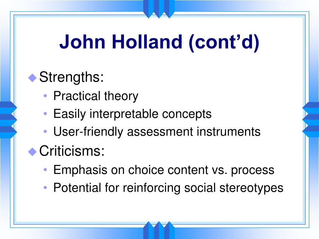 John Holland (cont'd)