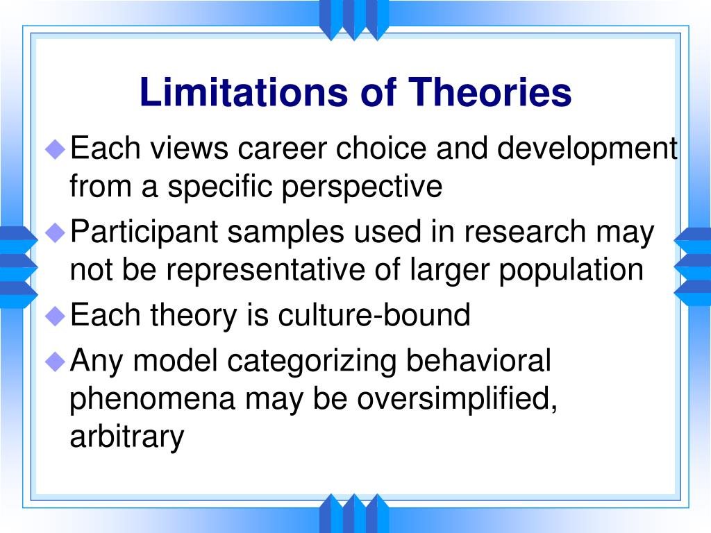 Limitations of Theories