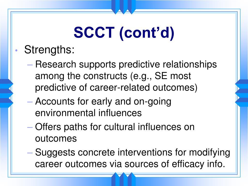 SCCT (cont'd)
