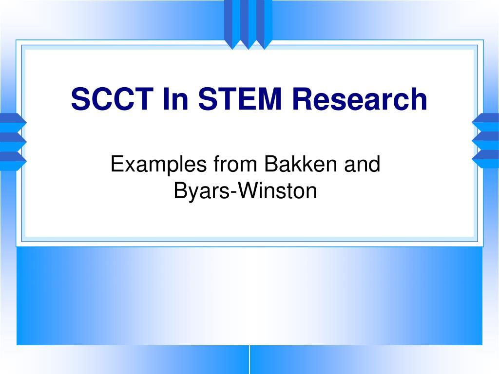 SCCT In STEM Research