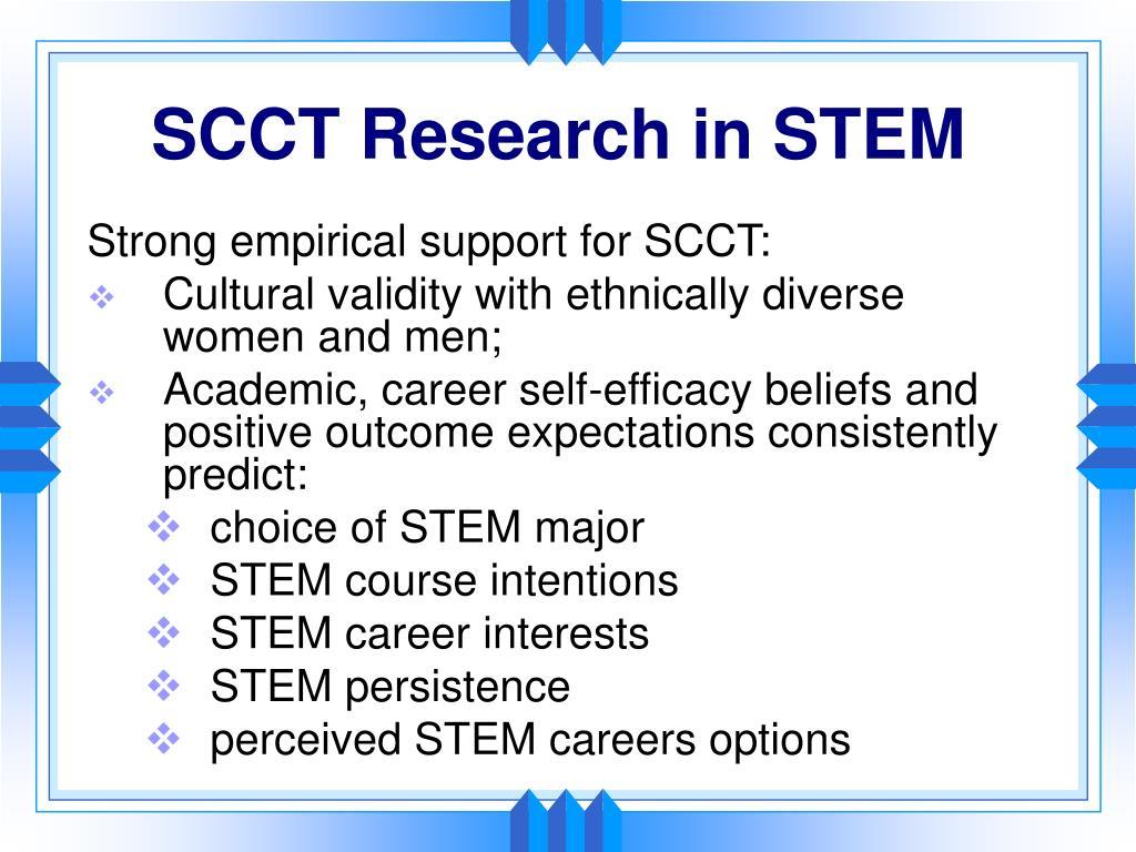 SCCT Research in STEM
