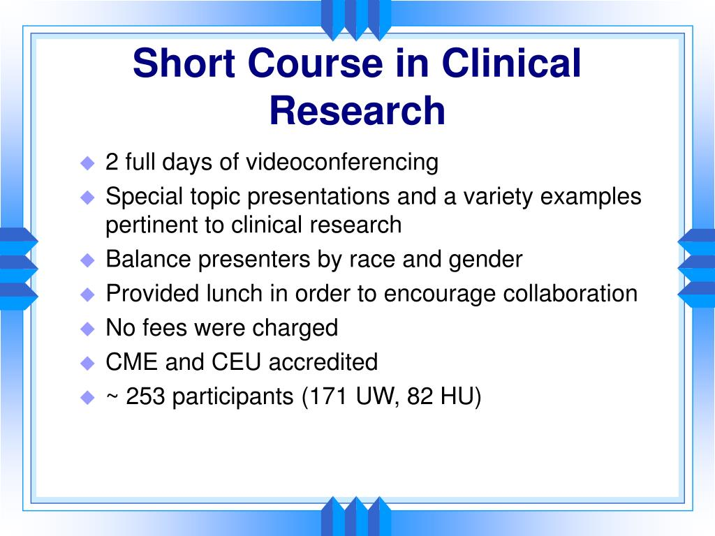 Short Course in Clinical Research