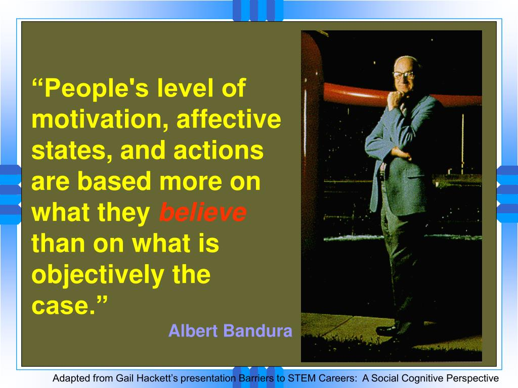 """""""People's level of motivation, affective states, and actions are based more on what they"""